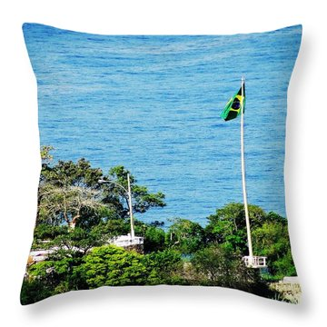 Patria Amada Throw Pillow by Zinvolle Art