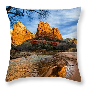 Patriarchs Of Zion Throw Pillow