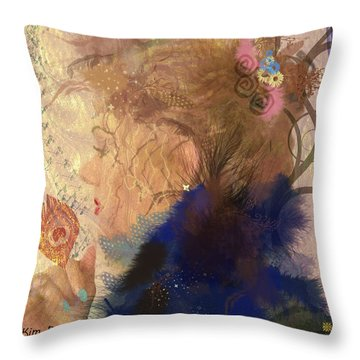 Patricia Prays Throw Pillow by Kim Prowse