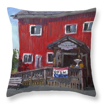 Patricia's Back Barn Throw Pillow