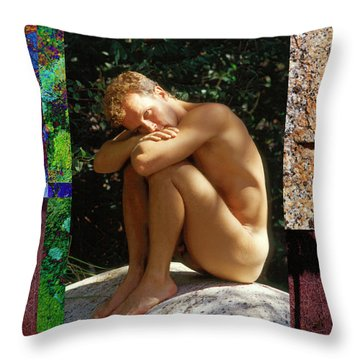 Patrick D. 4--1 Throw Pillow by Andy Shomock