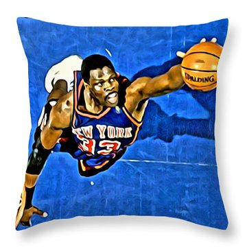 Patrick Ewing Throw Pillow by Florian Rodarte