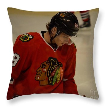 Patrick Kane Reflects Throw Pillow