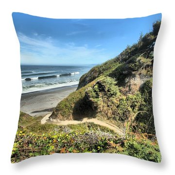 Patrick's Point Throw Pillow by Adam Jewell
