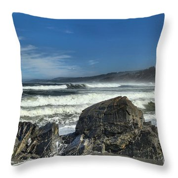 Patrick's Rocks Throw Pillow by Adam Jewell