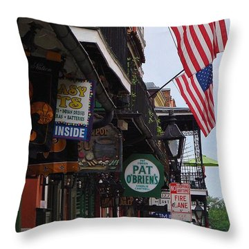 Patriotic Pat Obriens Throw Pillow by Margaret Bobb