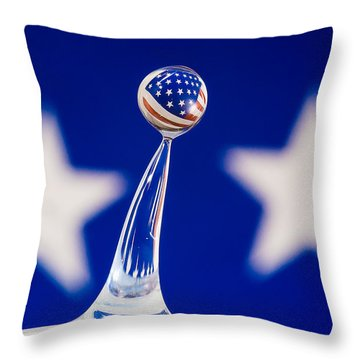 Patriotic Pop Throw Pillow