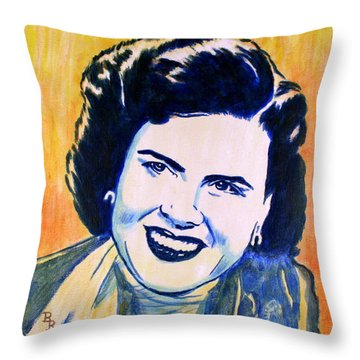Patsy Cline Pop Art Painting Throw Pillow
