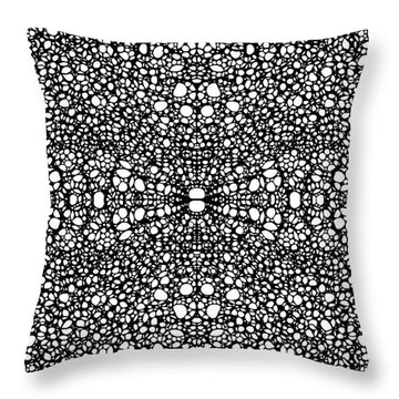 Pattern 26 - Intricate Exquisite Pattern Art Prints Throw Pillow by Sharon Cummings