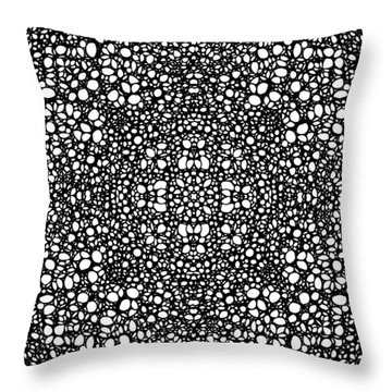 Pattern 42 - Intricate Exquisite Pattern Art Prints Throw Pillow by Sharon Cummings