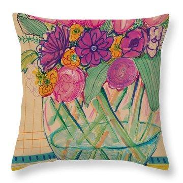 Pattern Flower Still Life Throw Pillow