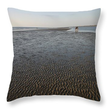 Pattern In Sand Throw Pillow
