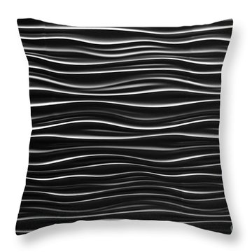 Pattern Of Waves Throw Pillow by Amy Cicconi