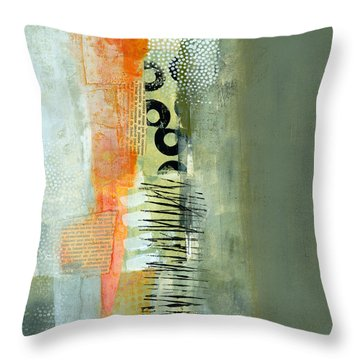 Pattern Study Nuetral 1 Throw Pillow by Jane Davies