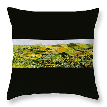 Patterns Throw Pillow by Allan P Friedlander