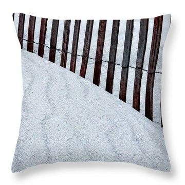 Patterns At Narragansett Beach Throw Pillow