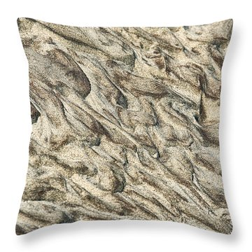 Patterns In Sand 2 Throw Pillow