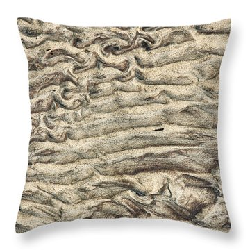 Patterns In Sand 3 Throw Pillow