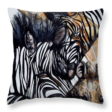Patterns Of Nature Throw Pillow by Laneea Tolley