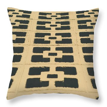 Patterns On Wall Throw Pillow