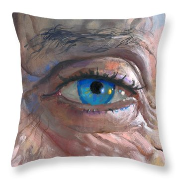 Throw Pillow featuring the painting Patti by John Norman Stewart