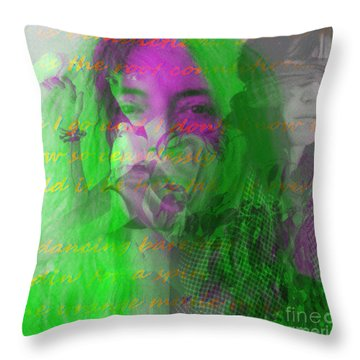 Patti Smith Dancing Barefoot Throw Pillow by Elizabeth McTaggart