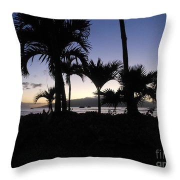 Throw Pillow featuring the photograph Pau Hana Time by Fred Wilson
