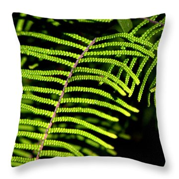 Throw Pillow featuring the photograph Pauched Coral Fern by Miroslava Jurcik