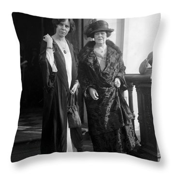 Throw Pillow featuring the photograph Paul & Belmont, 1923 by Granger