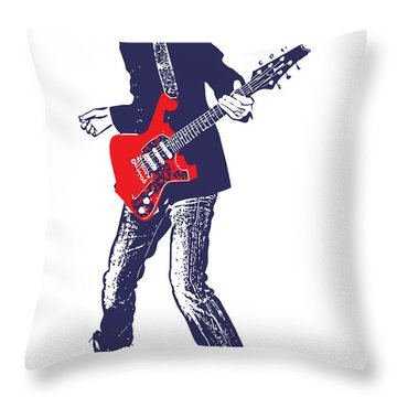Paul Gilbert No.01 Throw Pillow by Caio Caldas