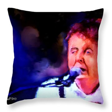Paul Mccartney Throw Pillow