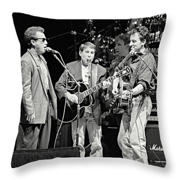 Paul Simon And Friends Throw Pillow by Chuck Spang