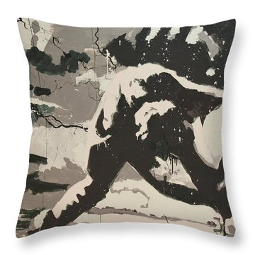 Paul Simonon Of The Clash Throw Pillow by Dustin Spagnola