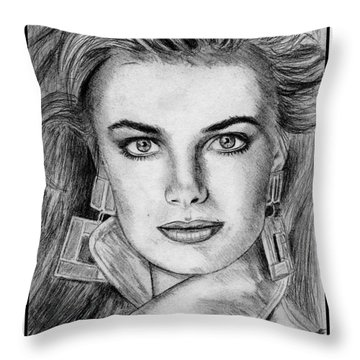 Paulina Porizkova In 1987 Throw Pillow