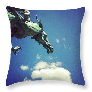 Paul's Dragon Throw Pillow