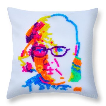Paul's Portrait Throw Pillow by PainterArtist FINs husband Maestro