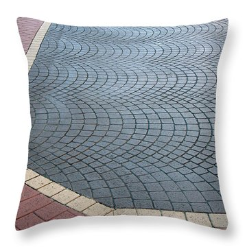 Throw Pillow featuring the photograph Paving Bricks by Pete Trenholm