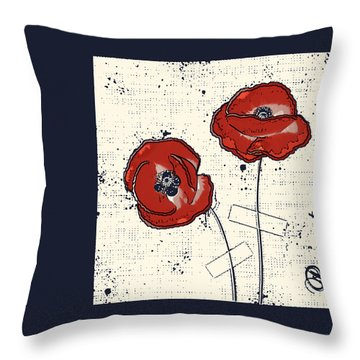 Pavot - S05-01a Throw Pillow