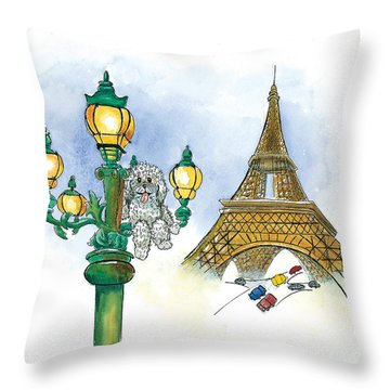 Paw Paw In France Throw Pillow by Leah Wiedemer