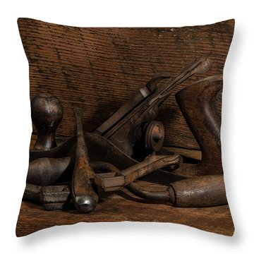 Paw Paw's Tools Throw Pillow