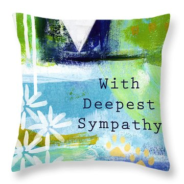 Paw Prints And Heart Sympathy Card Throw Pillow
