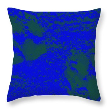 Paw Prints In Deep Blue Throw Pillow