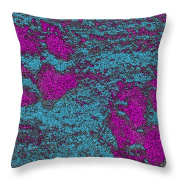 Paw Prints In Pink And Turquoise Throw Pillow