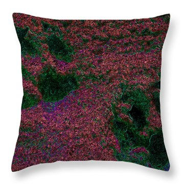 Paw Prints In Red And Green Throw Pillow