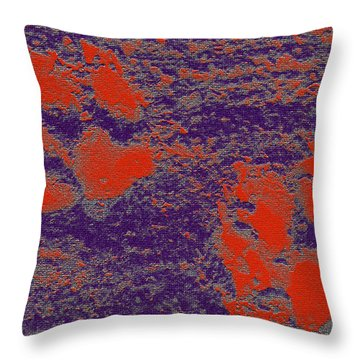 Paw Prints In Red And Purple Throw Pillow
