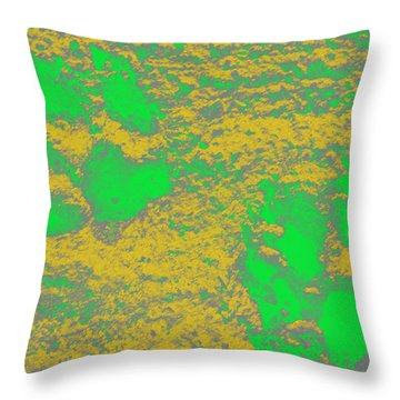 Paw Prints In Yellow And Lime Throw Pillow