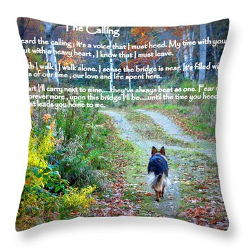 Paw Prints The Calling Throw Pillow