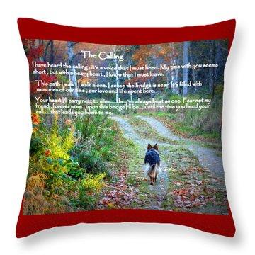 Paw Prints The Calling Throw Pillow