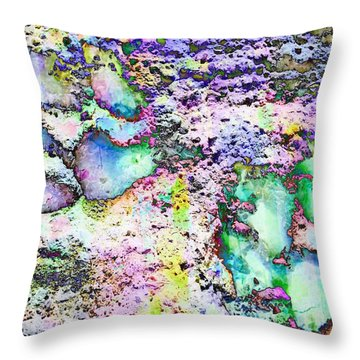 Paw Prints Vibrant Pastel Throw Pillow