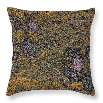 Paw Prints With A Tinge Of Lilac Throw Pillow